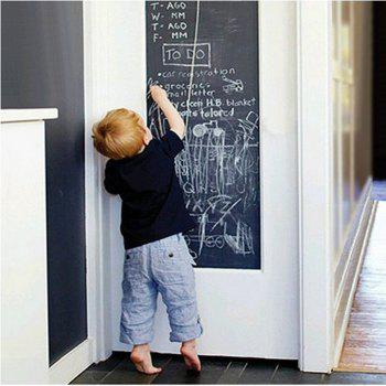DIY Chalkboard Decals Removable Washable Blackboard Wall Stickers for Refrigerator Kitchen Cabinets - BLACK