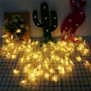10M 8-modes 100pcs Stars Light String Warm White Lights Decorative Lights - WHITE WHITE