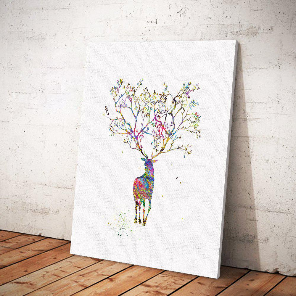 Elk Painting  Printing Canvas Wall Decor for Home Decoration - COLORMIX