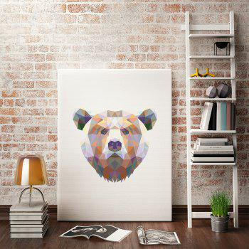 Bear Painting Printing Canvas Wall Decor for Home Decoration - COLORMIX