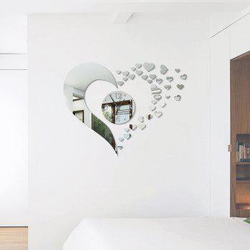 Bricolage Love Acrylic Miroir Stickers muraux Stickers muraux - Argent