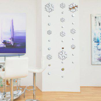 DIY Christmas Snowflakes Mirror Wall Stickers for Wall Decor - SILVER