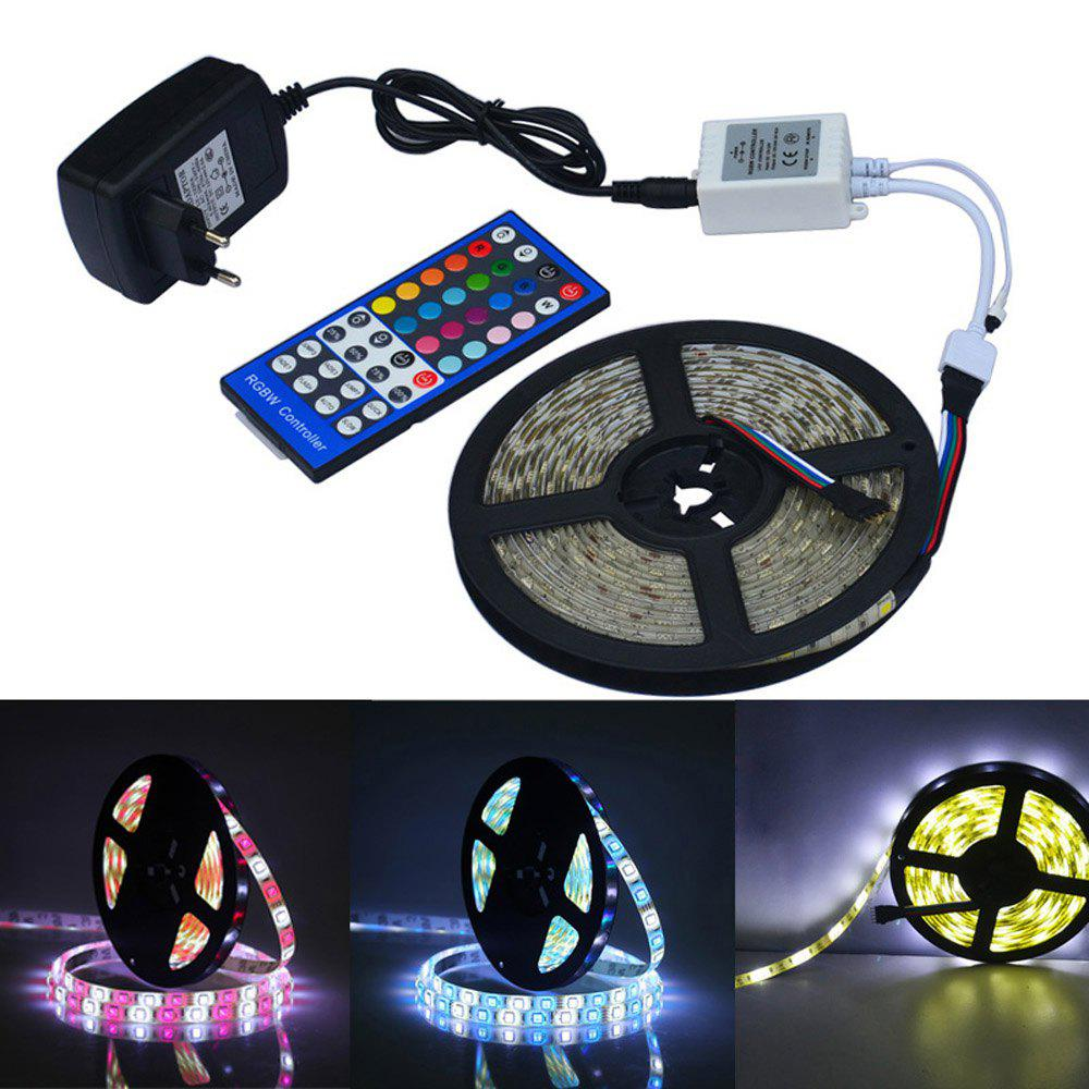 Jiawen Waterproof 5m 5050 RGBW LED Light Strip + Remote Controller + 12V 2A Power Supply RGB + White Indoor for Decoration good group diy kit led display include p8 smd3in1 30pcs led modules 1 pcs rgb led controller 4 pcs led power supply