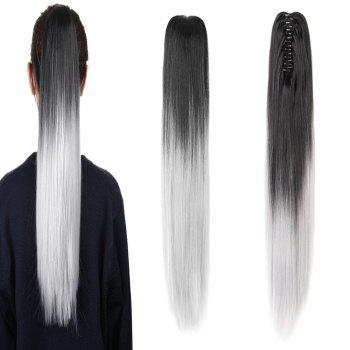 TODO 20 inch Ombre Claw 7-piece 16-clip Synthetic Hair Extensions - GREY 20INCH