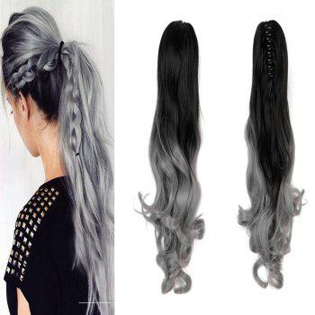 TODO 20 inch Ombre Claw Synthetic Clip-in Hair Extensions - GREY/BLACK 20INCH