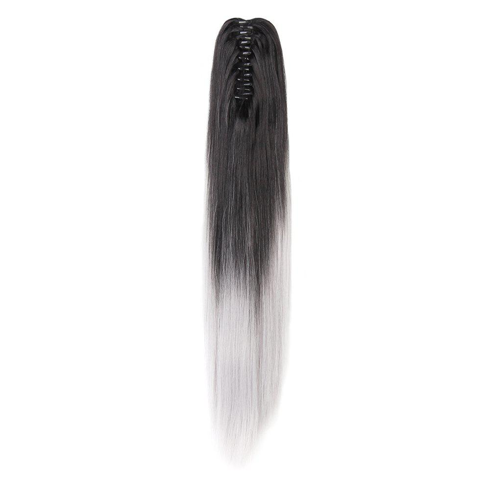 TODO 20 inch Ombre Claw Synthetic Clip-in Hair Extensions - GREY 20INCH