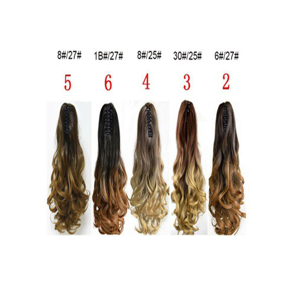TODO 20 inch Ombre Claw 7-piece 16-clip Synthetic Hair Extensions - OMBRE H BHBLUE 20INCH