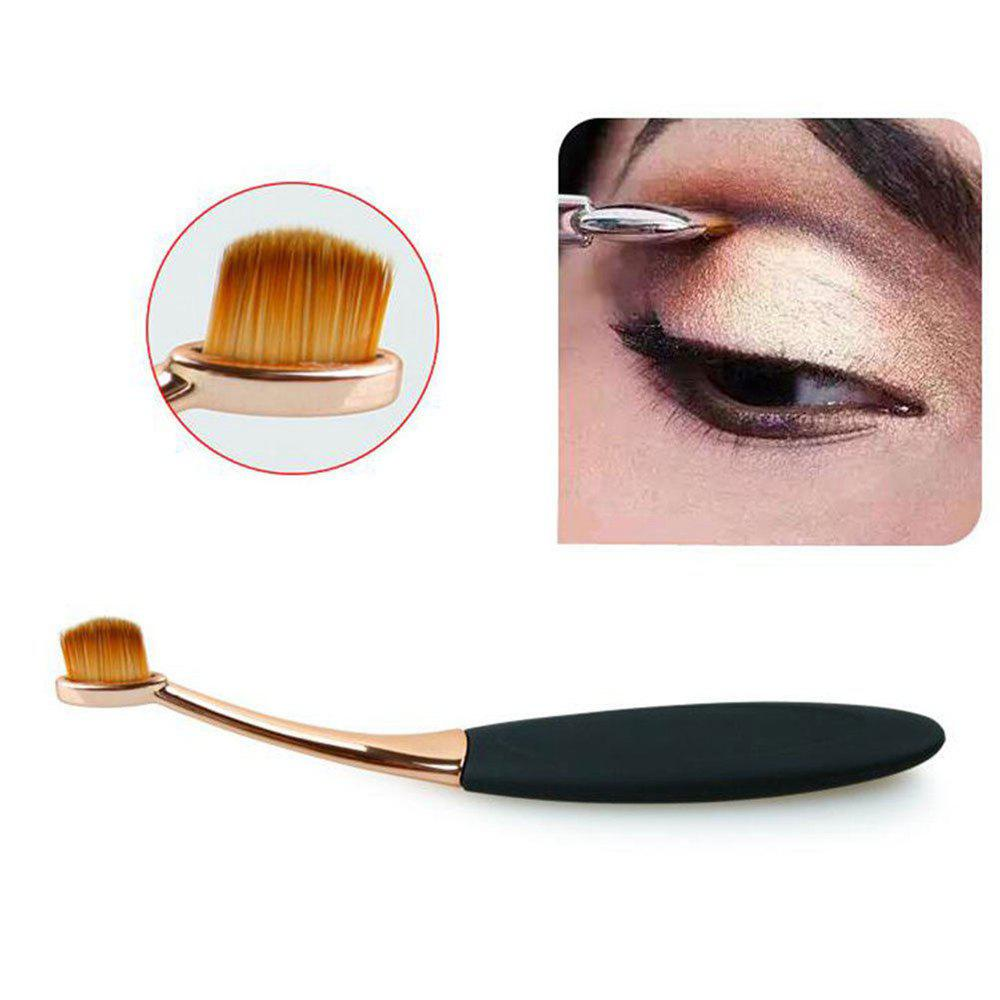 TODO 10pcs All in One Professional Oval Makeup Brushses - GOLD