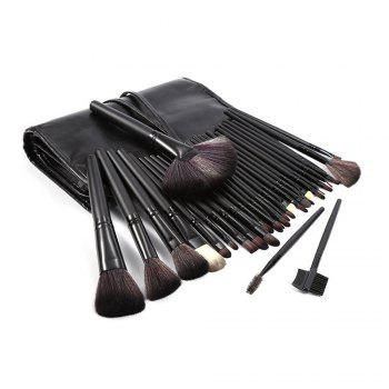 TODO 32pcs Professional Makeup Brushes with Carry Case - BLACK COLOR BLACK COLOR