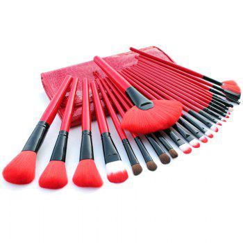 TODO 24pcs High Quality Micro Fiber Makeup Brushes - RED RED
