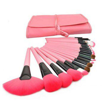 TODO 24pcs High Quality Micro Fiber Makeup Brushes -  PINK