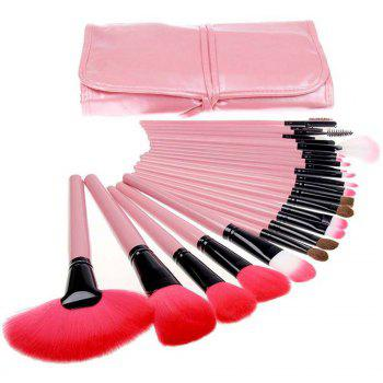 TODO 24pcs High Quality Micro Fiber Makeup Brushes - PINK PINK