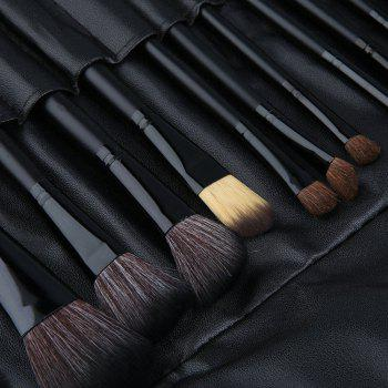 TODO 24pcs High Quality Micro Fiber Makeup Brushes - BLACK COLOR