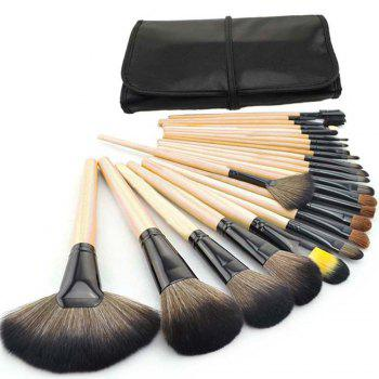 TODO 24pcs High Quality Micro Fiber Makeup Brushes - WOODEN COLOR WOODEN COLOR