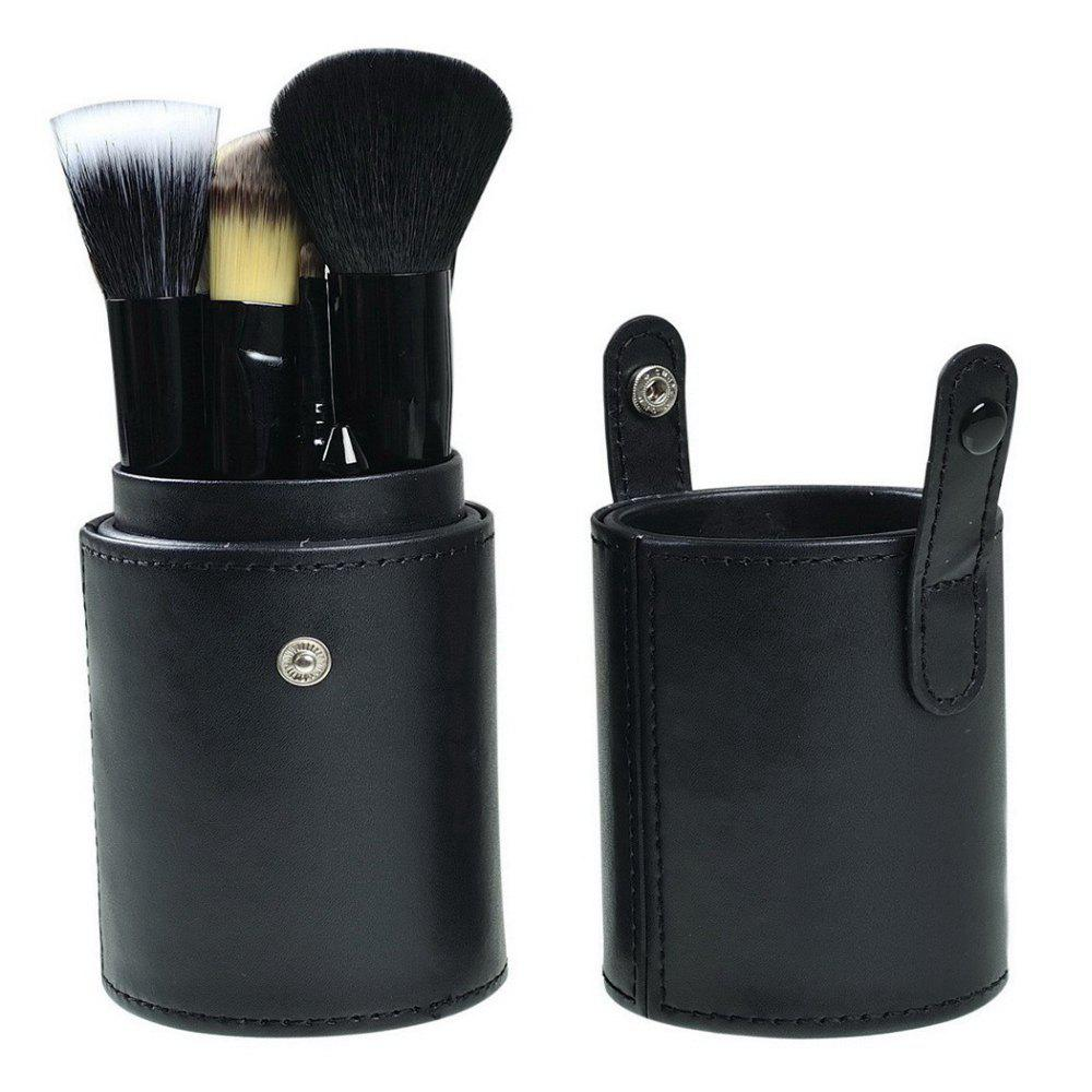 TODO 12pcs Makeup Brushes Cosmetic Tool with Cup Holder Case - BLACK COLOR