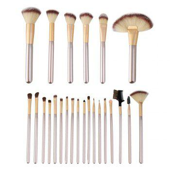 TODO 24pcs Professional Champagne Color Makeup Brushes Classic Wood Handle - CHAMPAGNE CHAMPAGNE