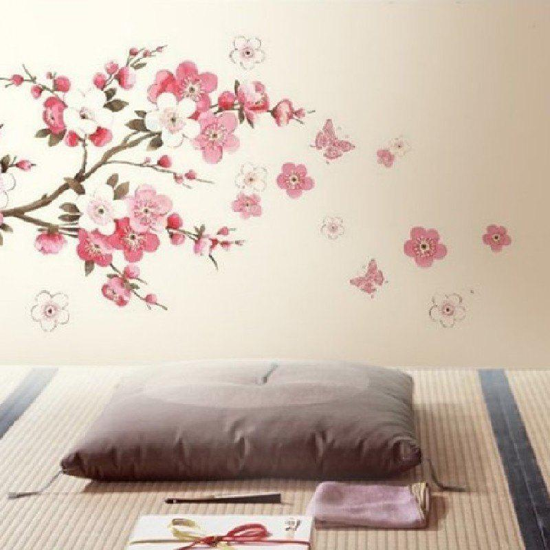 YEDUO Plum Flower Bedroom Decal Art Decor Wall Sticker flower bridge river pattern 3d wall art sticker
