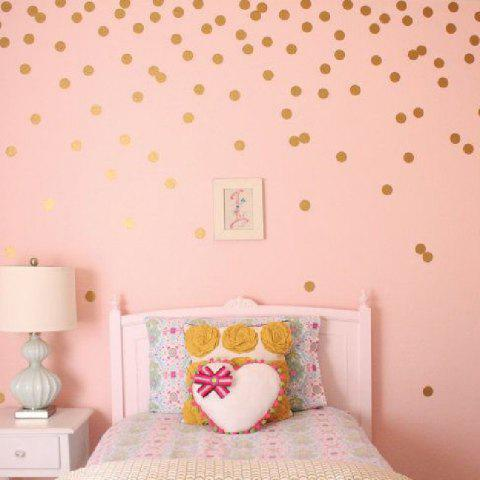 LIMITED OFFER] 2018 YEDUO 54 Gold Polka Dots Wall Sticker Baby ...