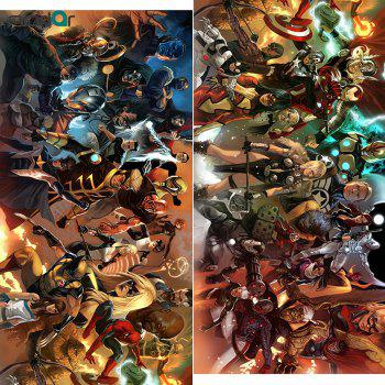 HD Printed Super Long Picture Comics Characters Canvas Painting Wall Art Poster Painting NO Frame - COLORFUL 20 X59 INCH  (50CM X 150CM)