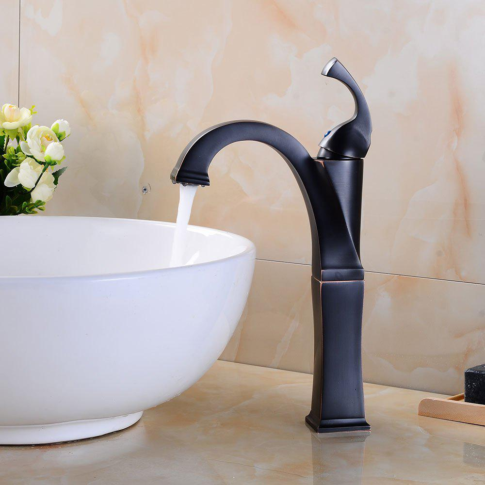 Deck Mounted Brass Contemporary Waterfall Faucets For Bathroom Sinks Oil Rubbed Bronze Black