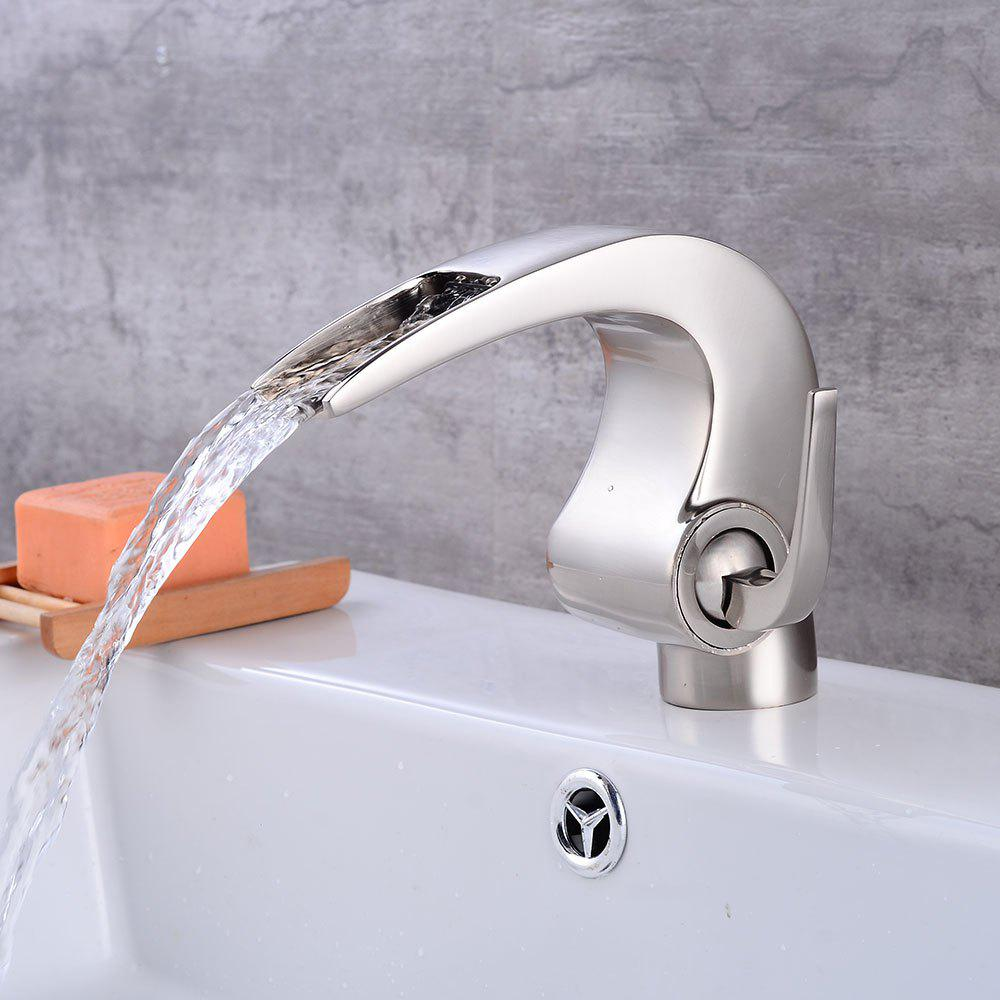 Waterfall Spout Bathroom Faucet: Waterfall Spout Bathroom Sink Vessel Vanity Faucets
