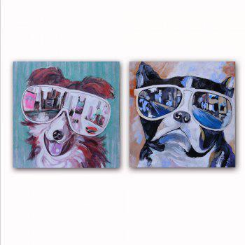 Happy Art Canvas Print Painting Modern Colorful Animals Dogs Home Decoration / Wall Art