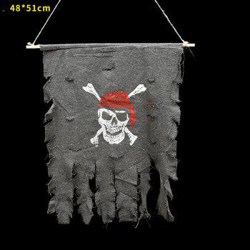 MCYH Halloween Pirate Flags Banner Festival Home Decoration - GRAY