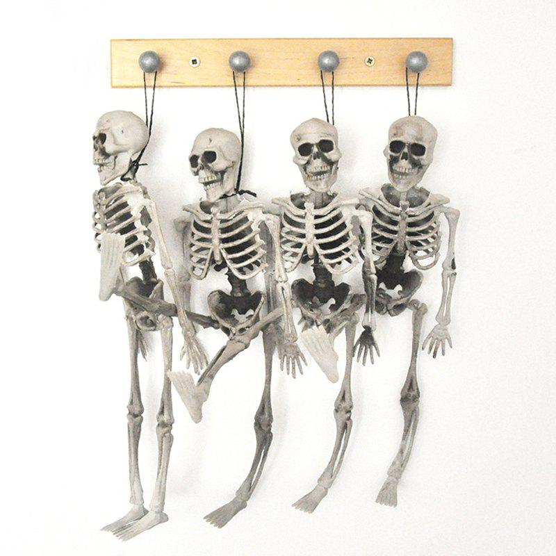 MCYH 1PC Halloween Skull Bones Children Size Hanging Props Haunted Decoration House - SNOW WHITE