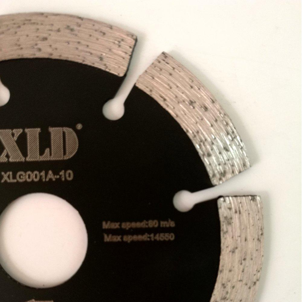 XLD 105mm Diamond Cold-pressed Segmented Saw Blade for Dry Cutting - BLACK