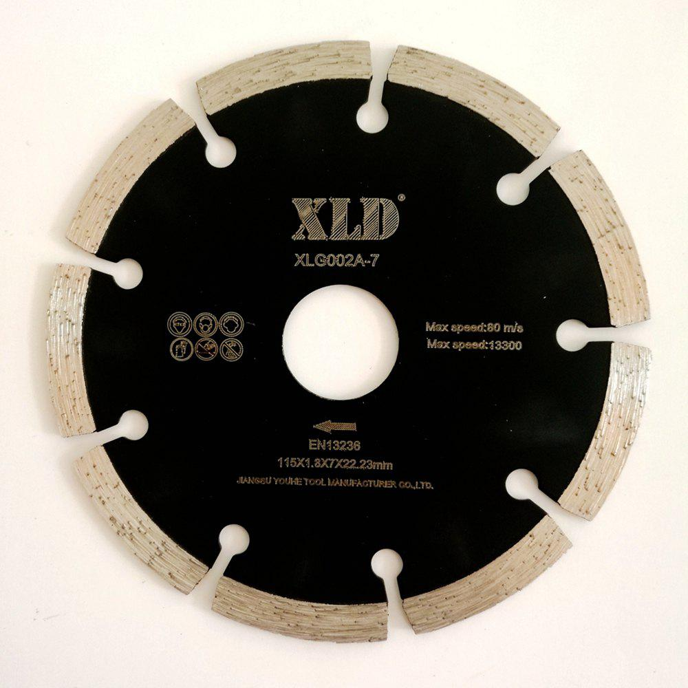 XLD 115mm Diamond Saw Blade Cold-pressed Segmented Dry Cutting Disc - BLACK