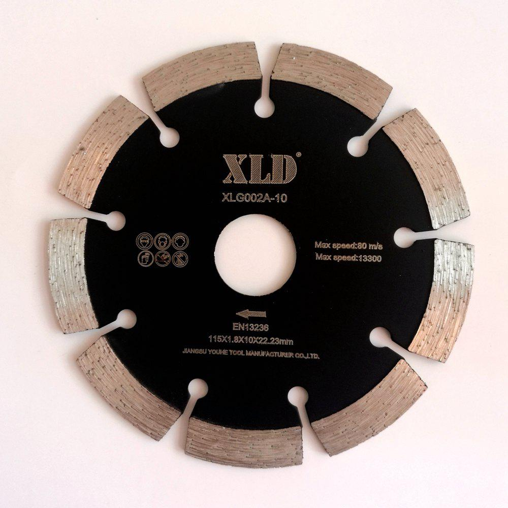 XLD 115mm Diamant froid pressé Segmented Saw Blade Dry Cutting - Noir